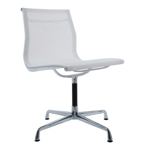 Eames conference chair EA105 on glides mesh white
