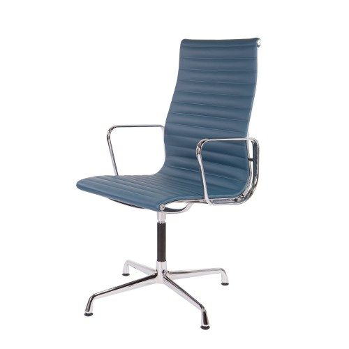 Eames Conference chair EA109 leather blue