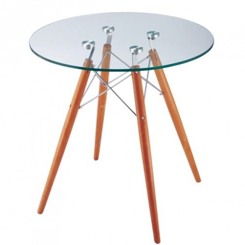 eames inspired CTW glass top Ø70cm x 70.5 cm