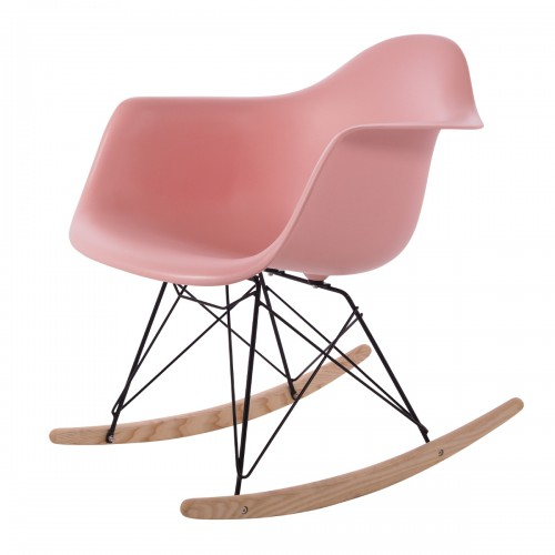 Eames rocking chair RAR Black Base PP baby pink