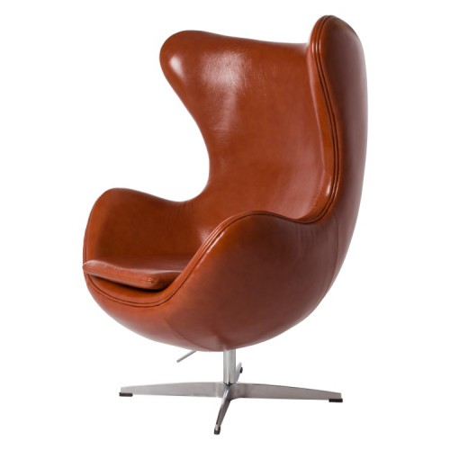 Arne Jacobsen Egg Chair Leather cognac