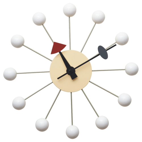 nelson ball clock white