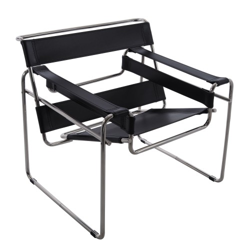Marcel Breuer WASSILY Chair Leather Black