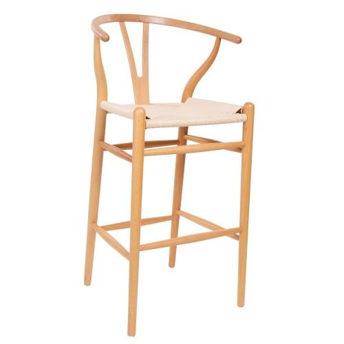 Wegner style Y-chair stool