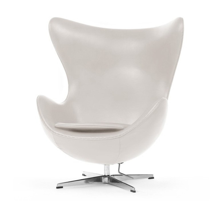 ... Arne Jacobsen Egg Chair Leather Ivory