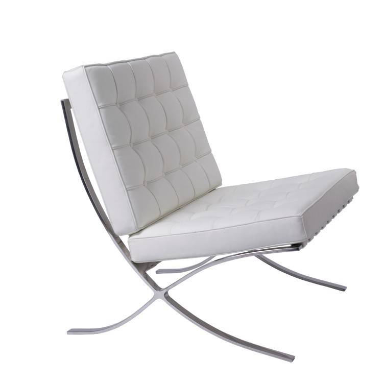 Barcelona Chair White rohe lounge chair. barcelona pavillion chair. design lounge.