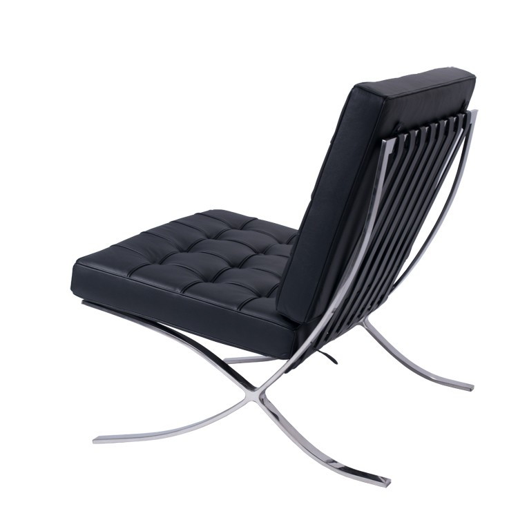 Rohe Barcelona Chair Black Rohe Barcelona Chair Black ...