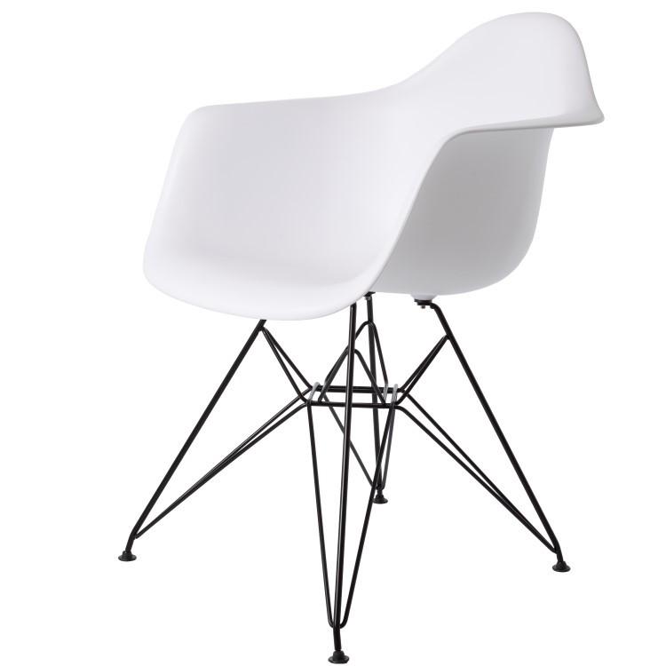 Charles Eames eetkamerstoel. DDAR Zwart frame. Design eetkamerstoel.