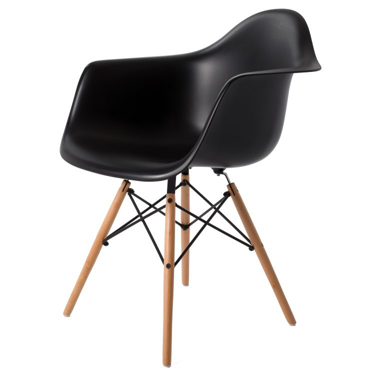 Charles eames eetkamerstoel daw mat design eetkamerstoel for Eames stoel zwart