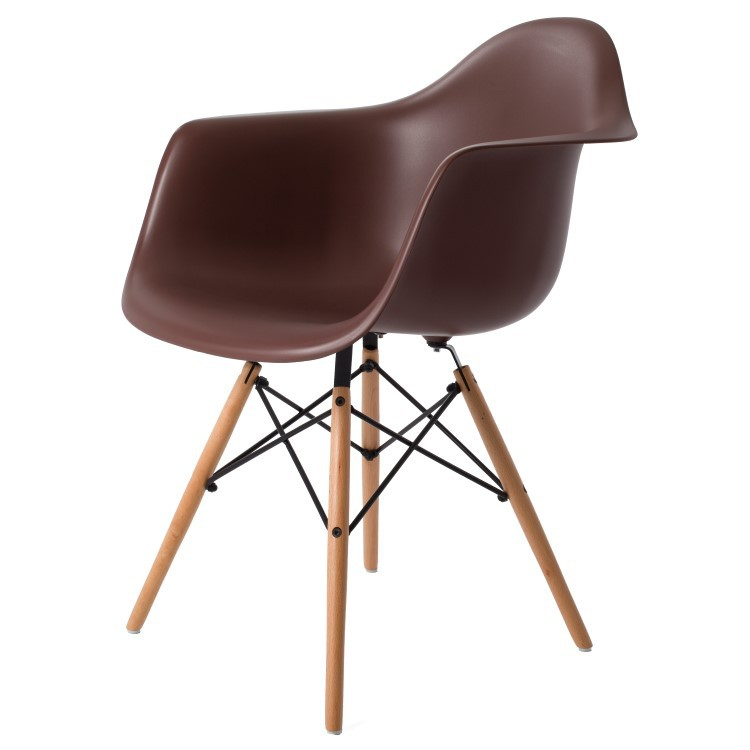 ... Eames DAW PP Brown ...  sc 1 st  Dominidesign! & Charles Eamesdining chair DAW PP black