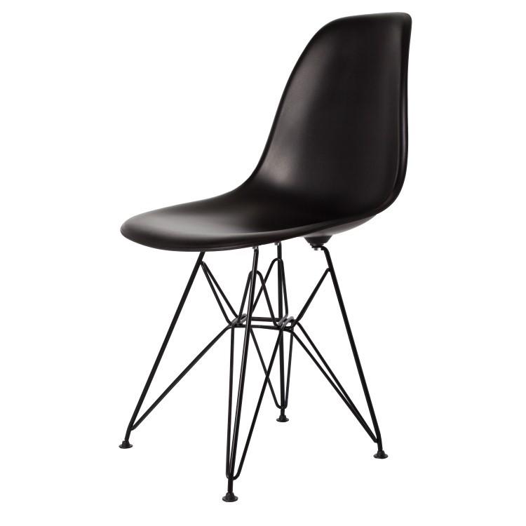 Charles Eames Dining Chair DDSR Black Base Matte Design