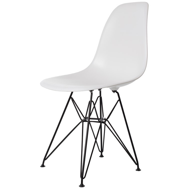 Charles Eames Sedia da pranzo. DD DSR Base nera. Design Sedia da pranzo.