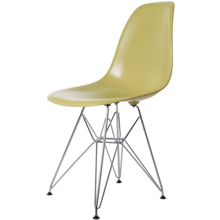 Plastic Design Stoelen.Charles Eames Dining Chair Dd Dsr Abs Olivegreen