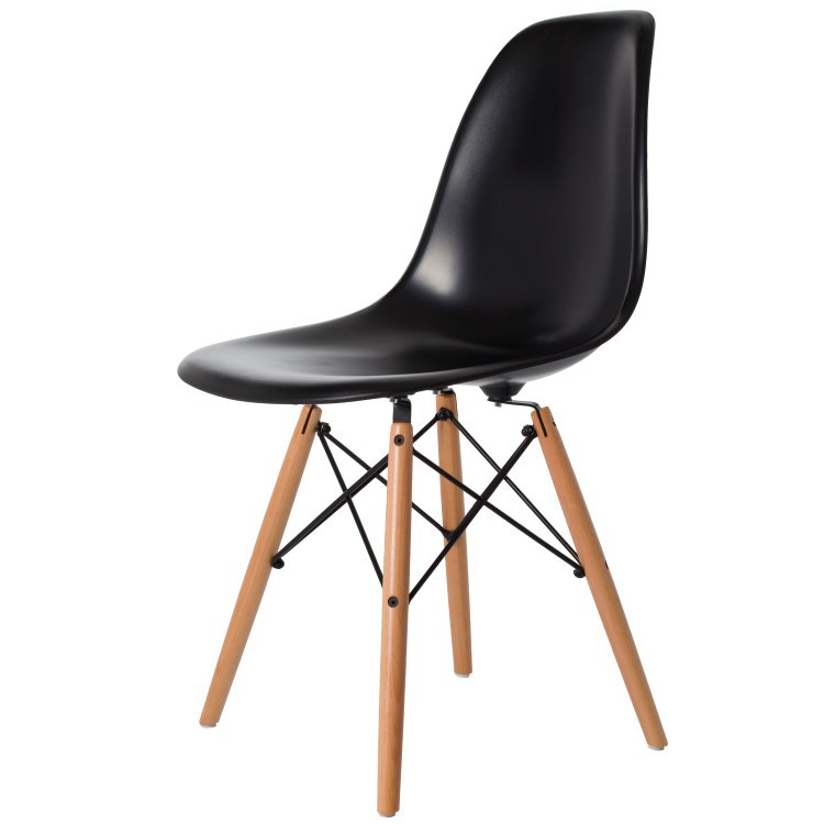 Charles eames eetkamerstoel dsw glanzend design for Eames hocker replica