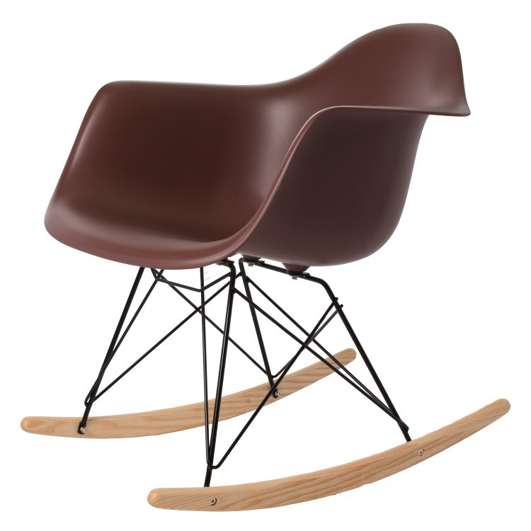 ... Eames Rocking Chair RAR Black Base PP Brown ...