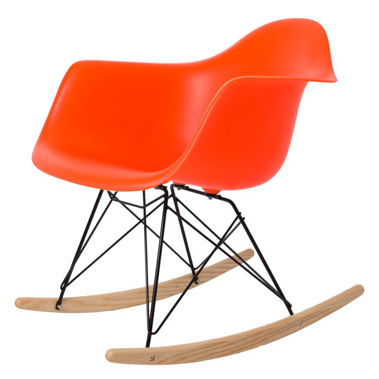 ... Eames Rocking Chair RAR Black Base PP Neon Orange ...