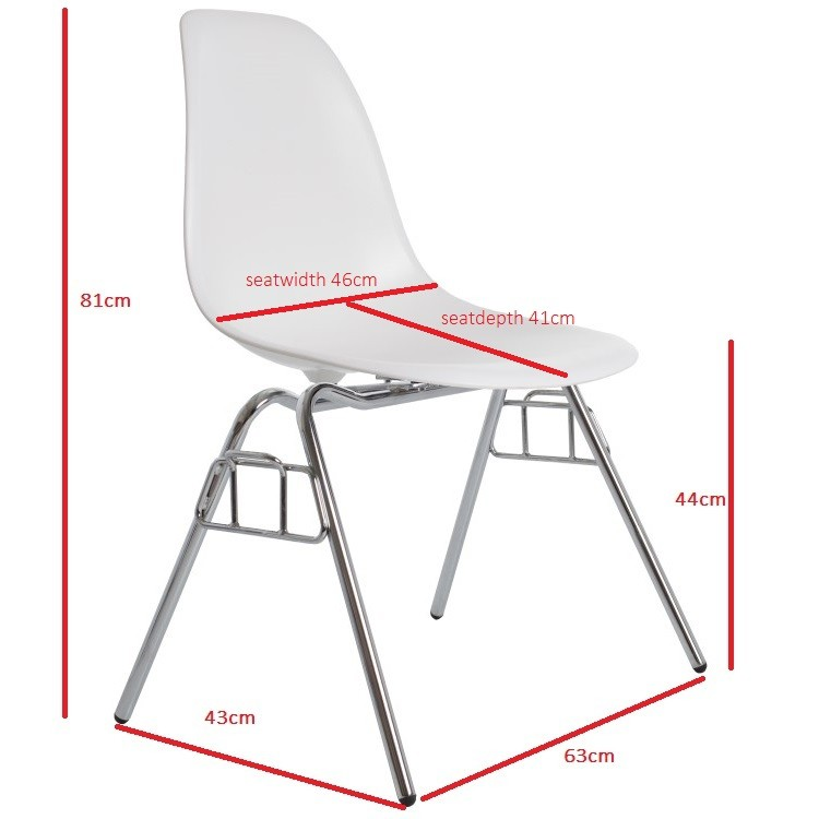 charles eames dining chair dss glossy design dining chair
