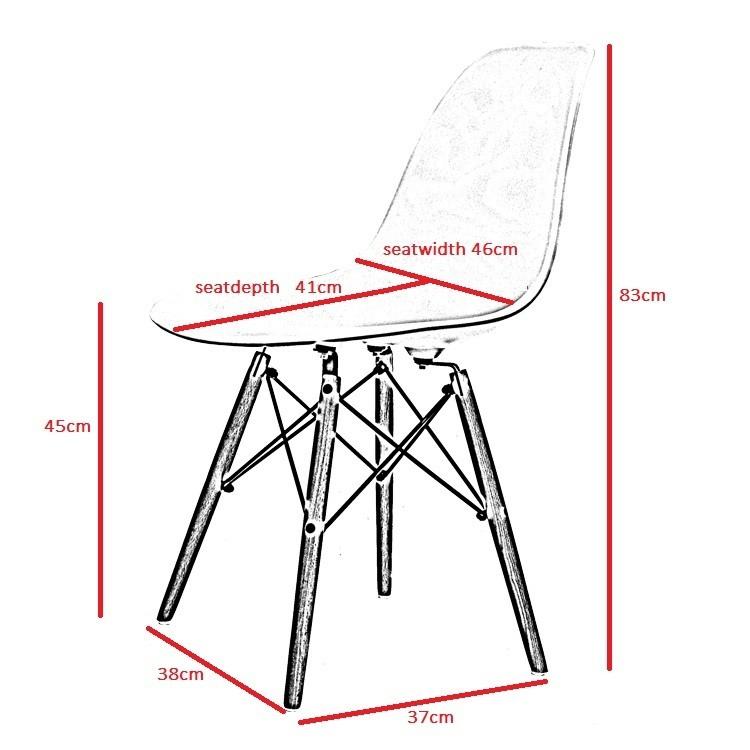 Charles Eames Chaise De Salle A Manger DDSW Fibre Verre Design