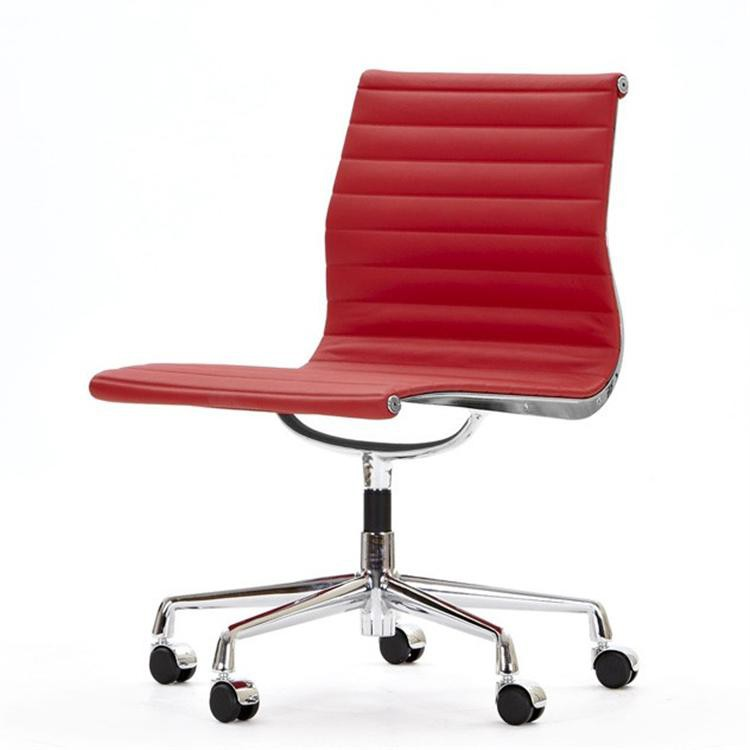 Eames conference Chair EA105 Leather on castors no arms Design