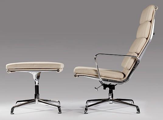 Lounge Stoel Hocker.Charles Eames Lounge Chair Ea222 White