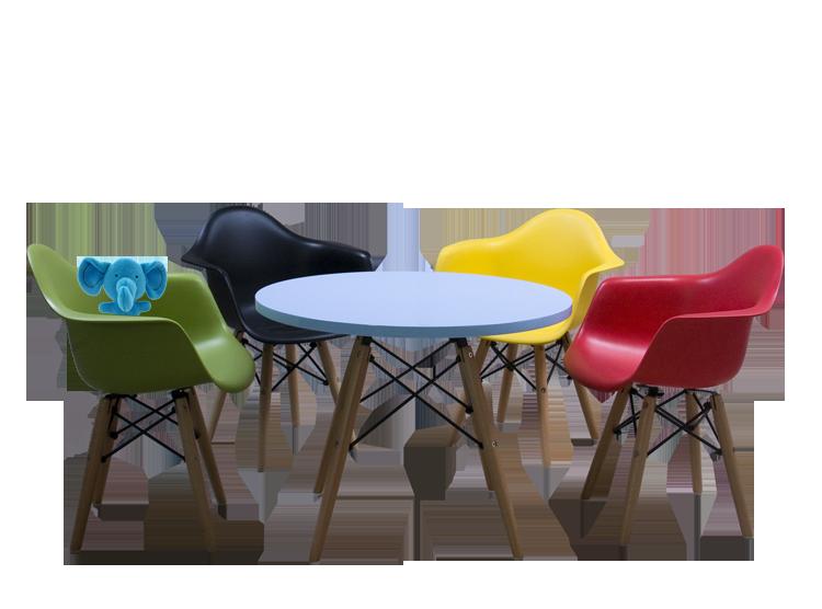 Eames Stoel Kind : Charles eames kindertafel ctw junior rond design kindertafel