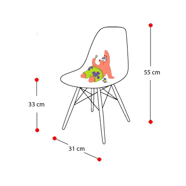 Charles Eames barnestol. DD DSW Junior. Design barnestol.