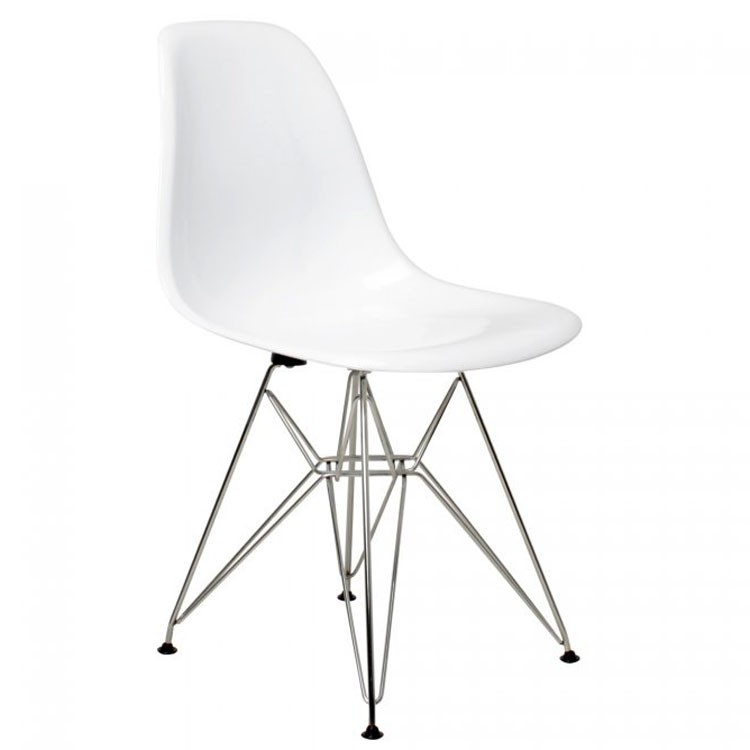 Charles eames dining chair dsr fibreglass design dining for Eames hocker replica