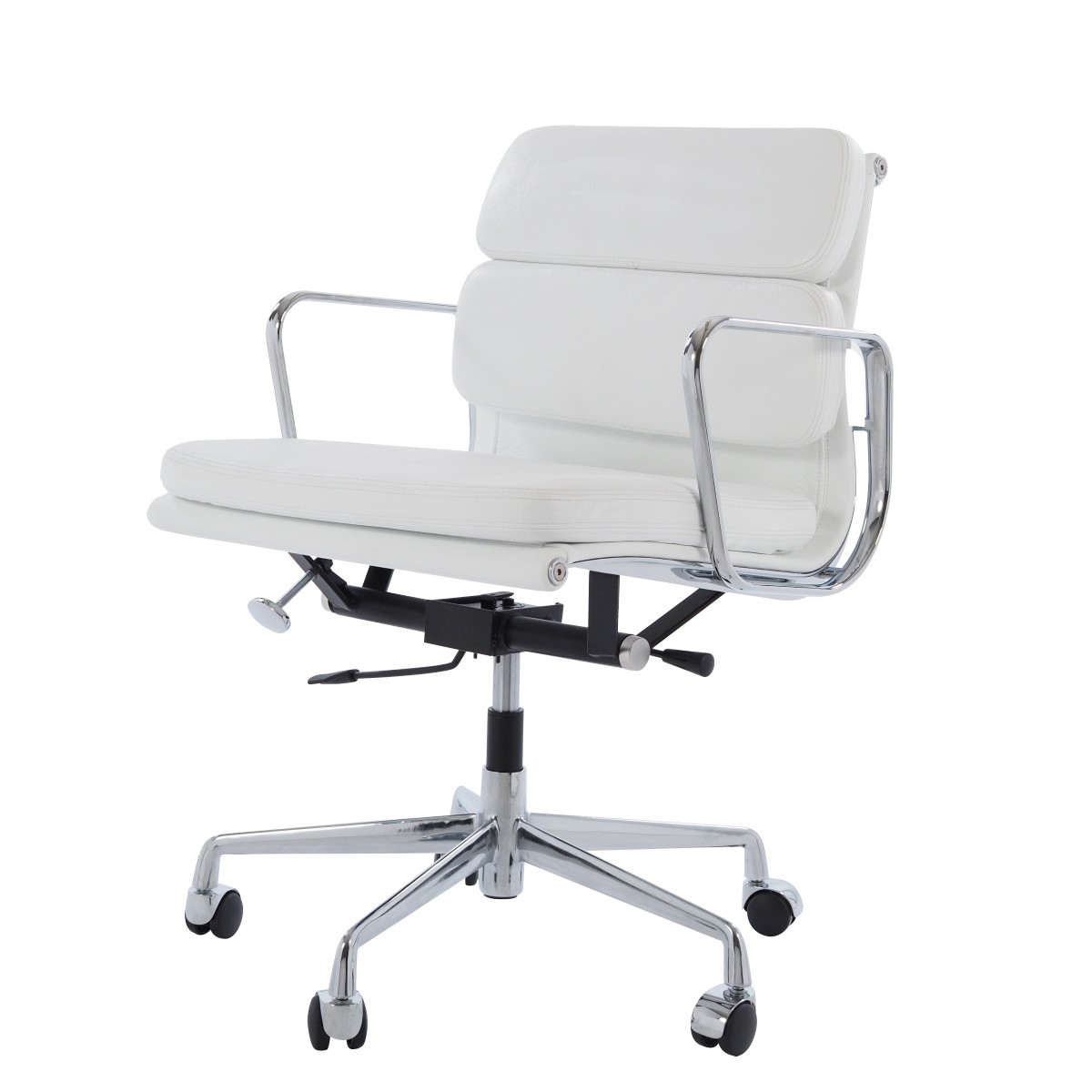 Eames Bureaustoel EA 217 wit in 2020 | Bureaustoel