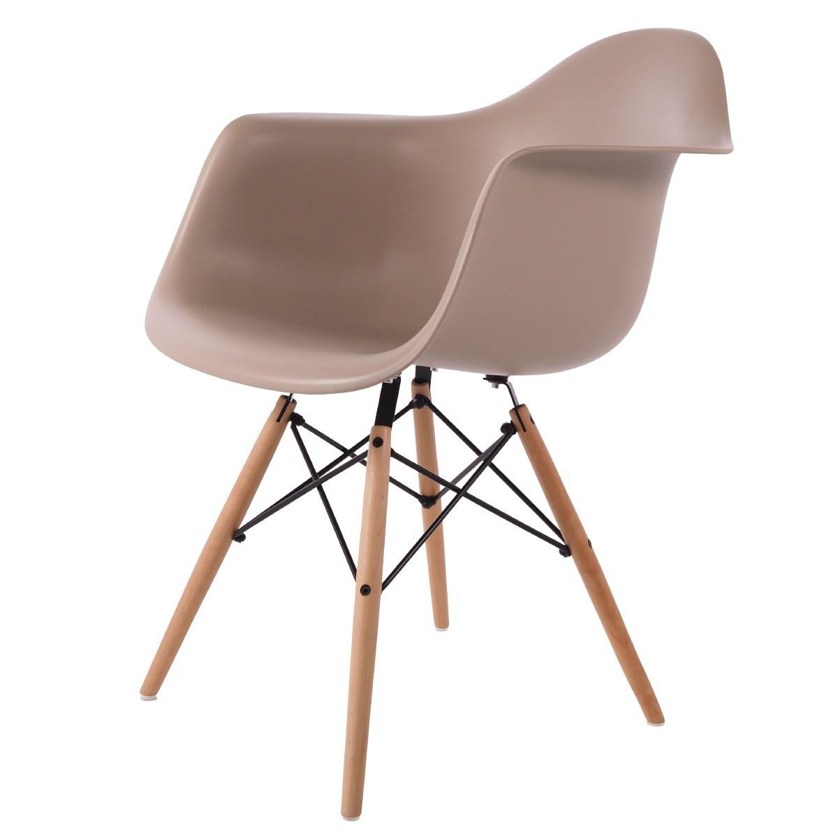 Charles Eames,spisestue stol DD DAW PP lysegrå