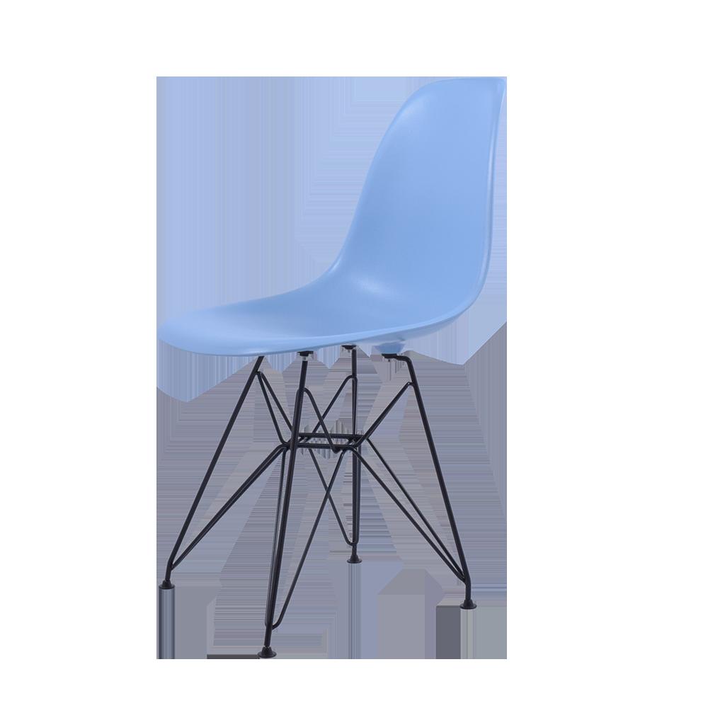 Charles Eames spisebordsstol. DSR sort stel . Design spisebordsstol.