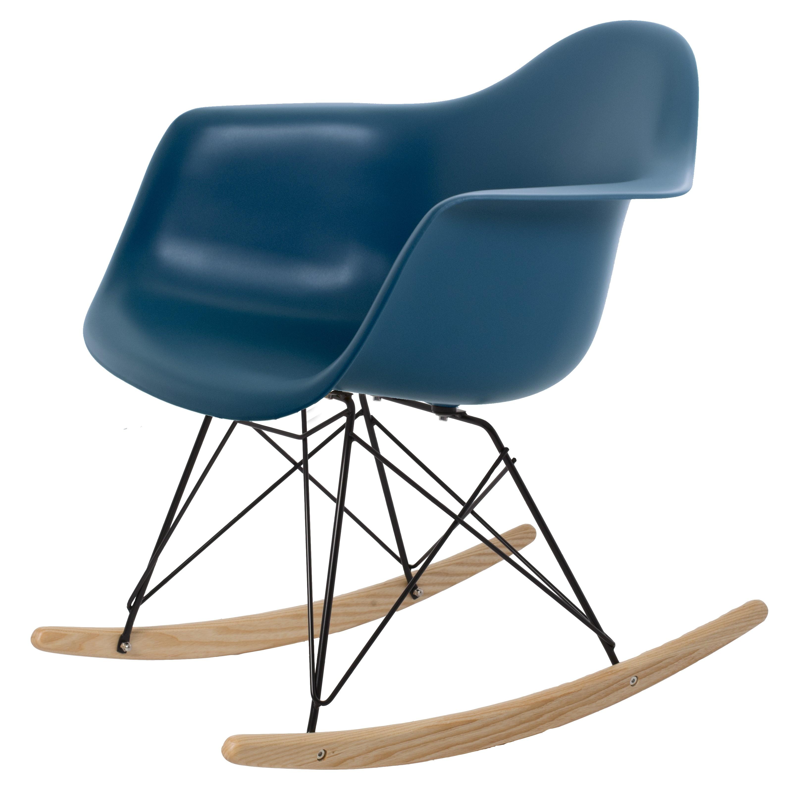 Charmant ... Eames Rocking Chair RAR Black Base PP Ocean Blue ...