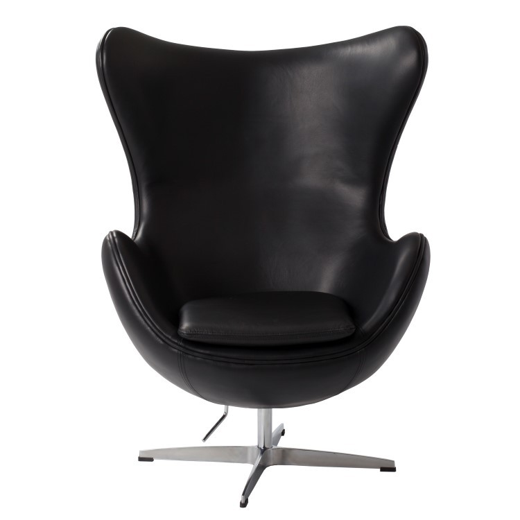 Wundervoll ... Arne Jacobsen Egg Chair Leather Black ...