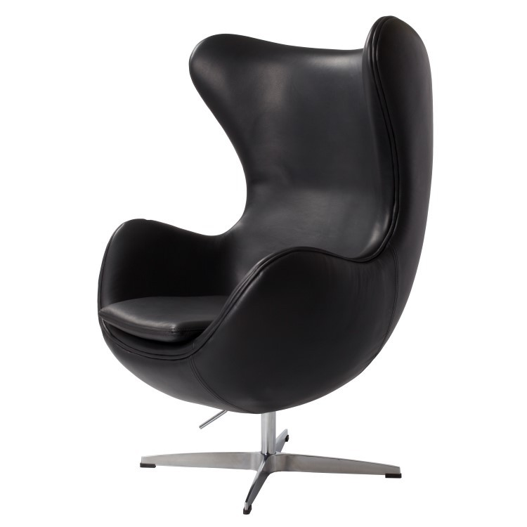 Charmant Arne Jacobsen Egg Chair Leather Black ...