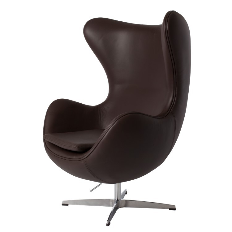 ... Arne Jacobsen Egg Chair Leather Brown ...