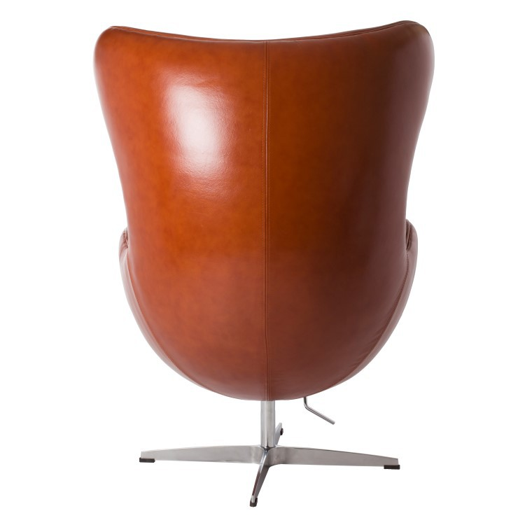 Egg Chair Cognac.Jacobsen Lounge Chair Egg Chair Leather Design Lounge Chair