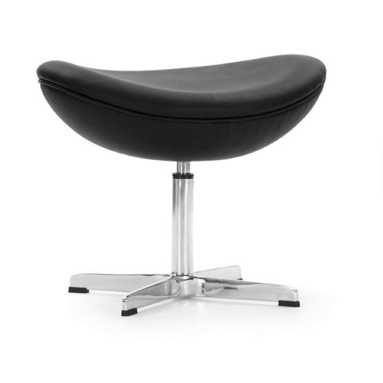 ... Arne Jacobsen Egg Chair Ottoman Leder Zwart ...