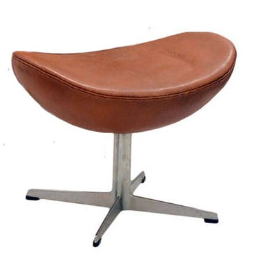 Good ... Arne Jacobsen Egg Chair Footstool Leather Antique ...