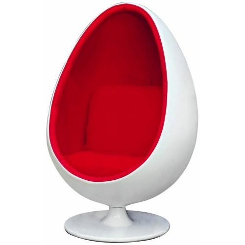 Lounge Stoel Hocker.Eero Aarnio Lounge Chair Egg Pod Chair Red