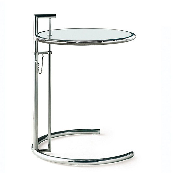 eileen gray side table e1027 chrome design side table. Black Bedroom Furniture Sets. Home Design Ideas