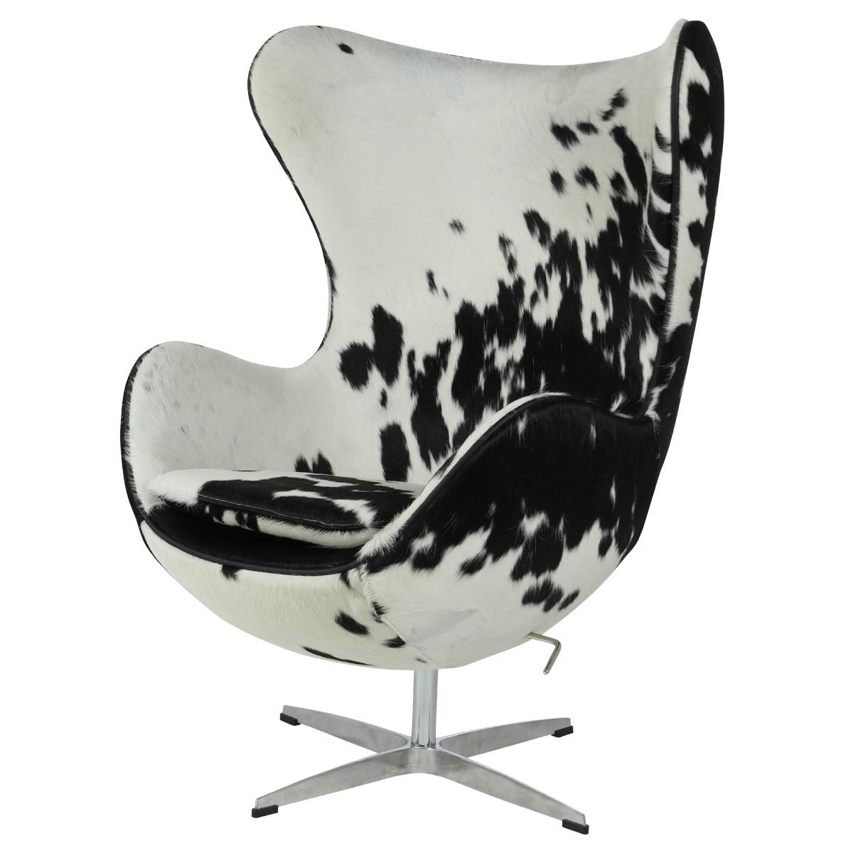 Lounge Stoel Wit.Lounge Stoel Egg Chair Zwart Wit