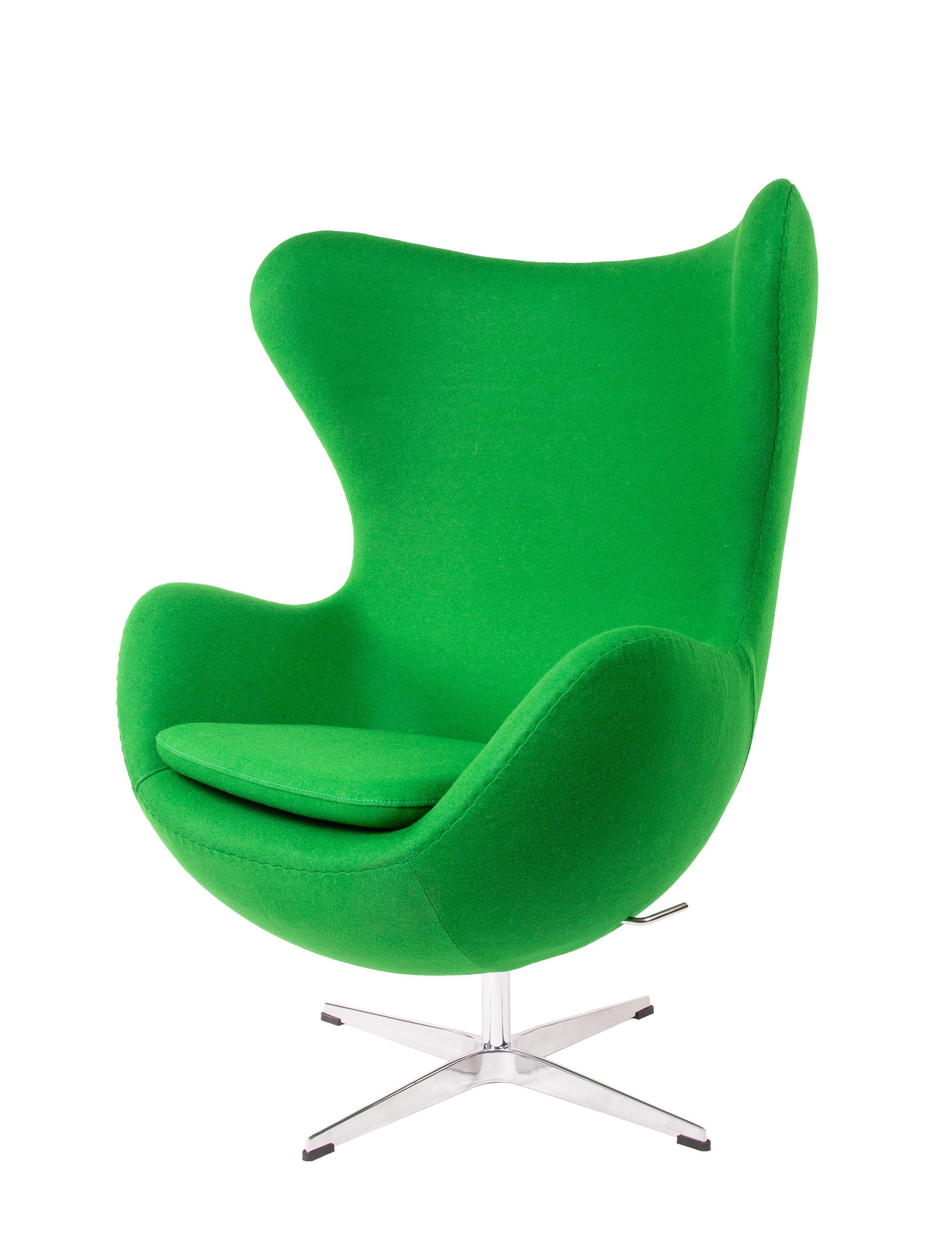 Arne Jacobsen,lounge stoel Egg Chair lichtgrijs