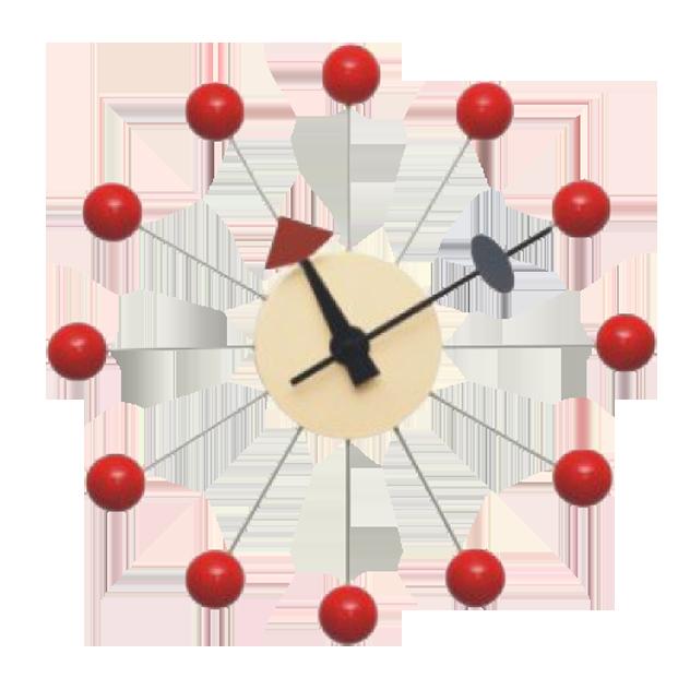 george nelson wandklok ball klok rood design wandklok. Black Bedroom Furniture Sets. Home Design Ideas