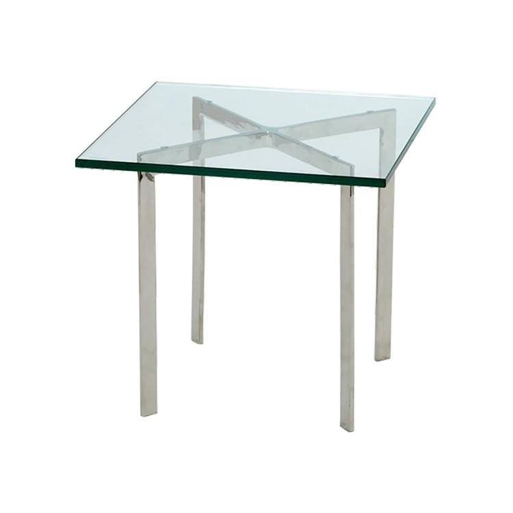 Side Table Metaal.Side Table Barcelona Pavillion Transparent