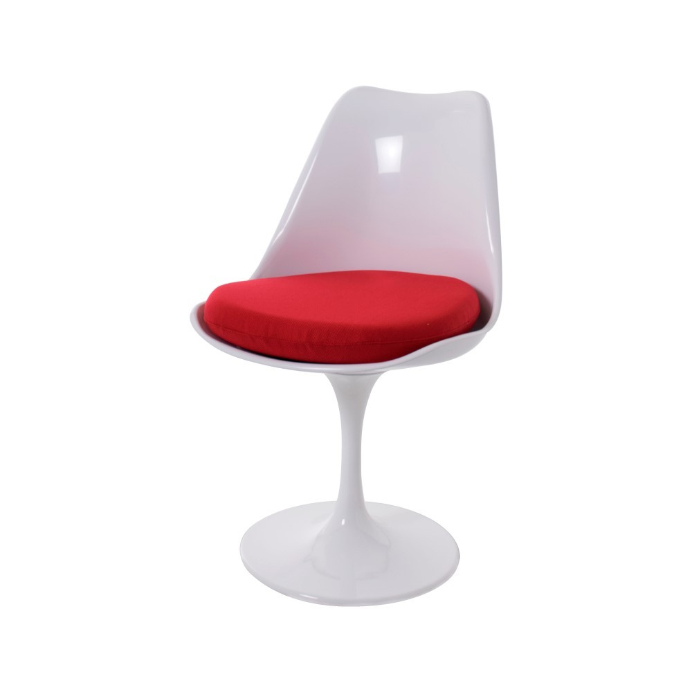 Delicieux ... Saarinen Tulip Chair White No Arms Cushion Red ...