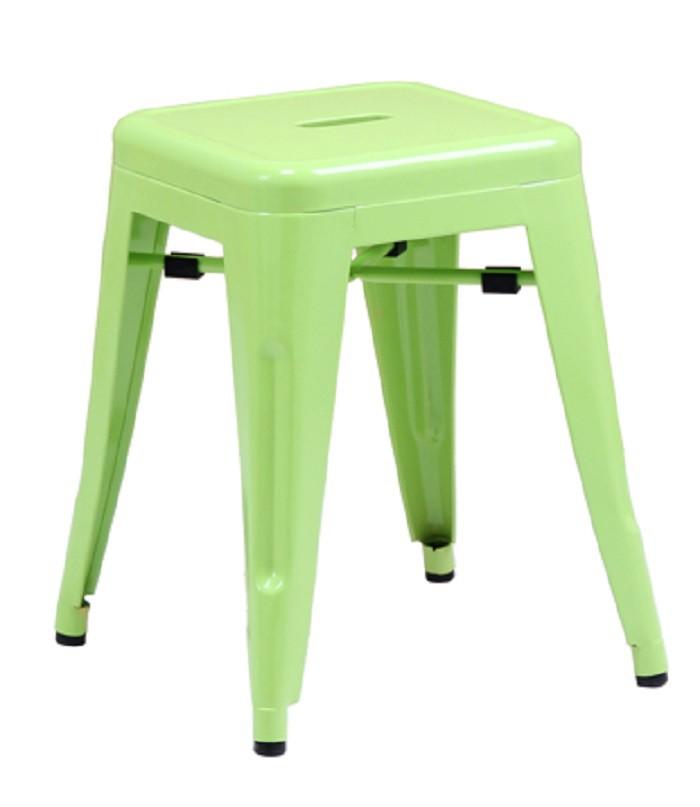 Tolix Stool 48cm Green