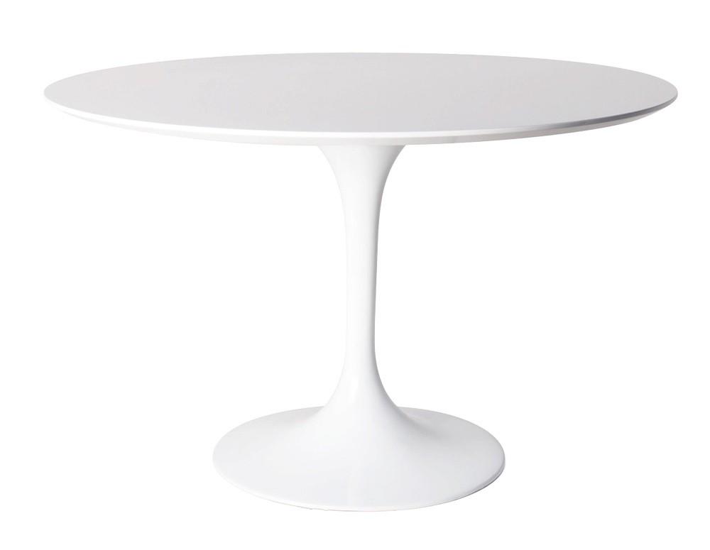 ... Eero Saarinen Tulip Table 120cm Matt White ...