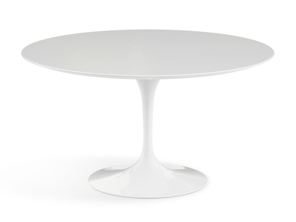 Saarinen Tulip Salontafel.Eettafel Tulip Table 120cm Wit Glossy