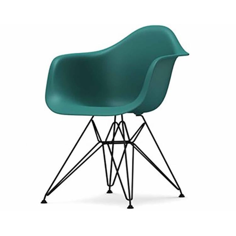 Charles eames eetkamerstoel dar zwart frame design for Eames stoel zwart