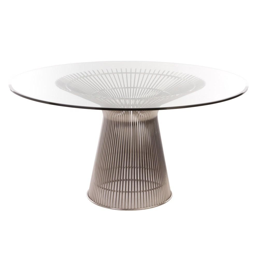 Warren Platner Esstisch Wire Tisch Diameter 135cm Chrome