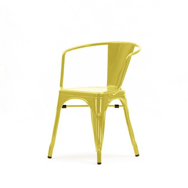 ... Xavier Pauchard Tolix Terrace Chair With Armrests Yellow ...